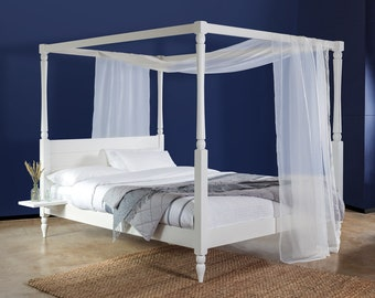 four poster country wooden bed frame by get laid beds