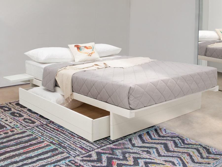 Japanese Platform No Headboard Wooden, Queen Bed No Headboard