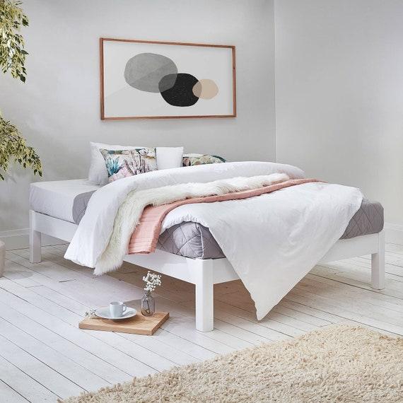 platform space saver wooden bed frame by get laid beds etsy. Black Bedroom Furniture Sets. Home Design Ideas