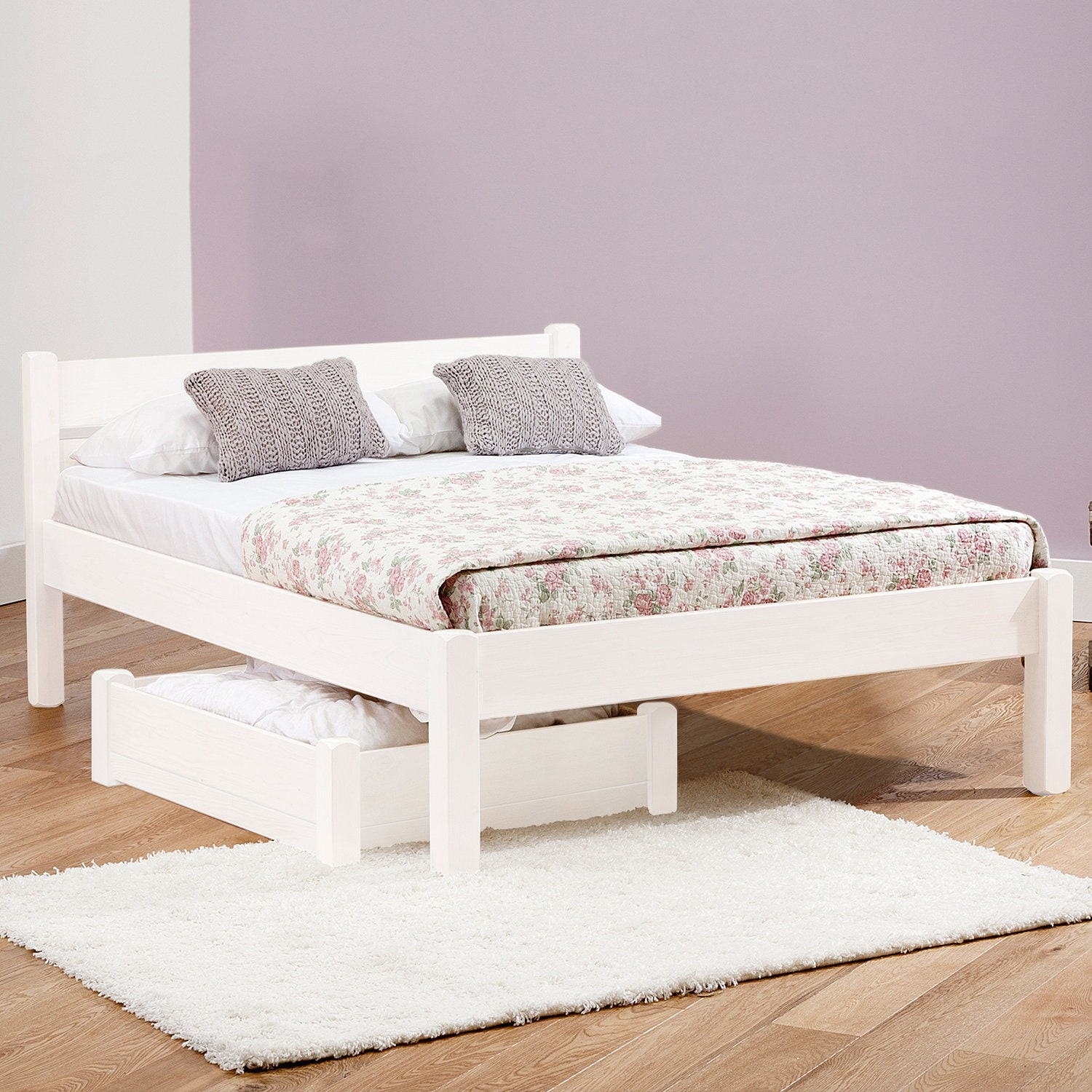 white knight wooden bed frame by get laid beds etsy. Black Bedroom Furniture Sets. Home Design Ideas