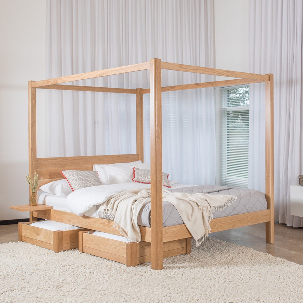Four Poster Classic Wooden Bed Frame By Get Laid Beds Etsy