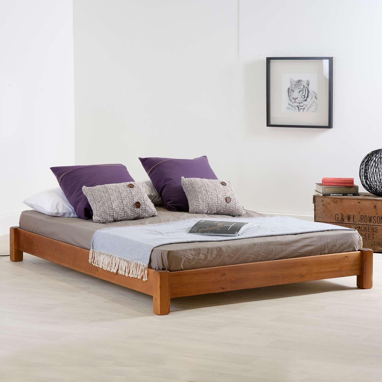 Low Platform Bed Frame by Get Laid Beds Hardwood Option | Etsy