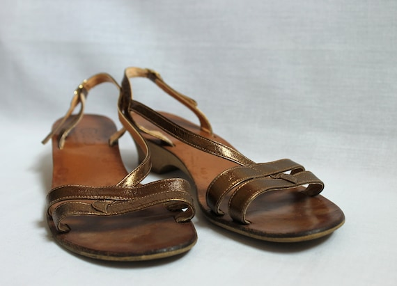 Strappy Gold Golo by Rapisardi Sandals Made in Ita