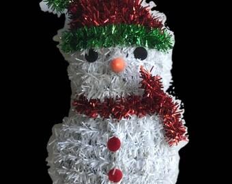 Classic Christmas Ornament Set – 4 Assorted Glittered Ornaments – Santa boot, Santa hat, Snowman & Candy Cane – Xmas Decorations 3582
