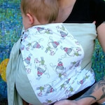 Ring Sling, Baby Carrier, Baby Wrap Carrier, Linen Ring Sling, Ringsling, Green Ring Sling, Summer Baby Sling, Babywearing, Size M-XXL