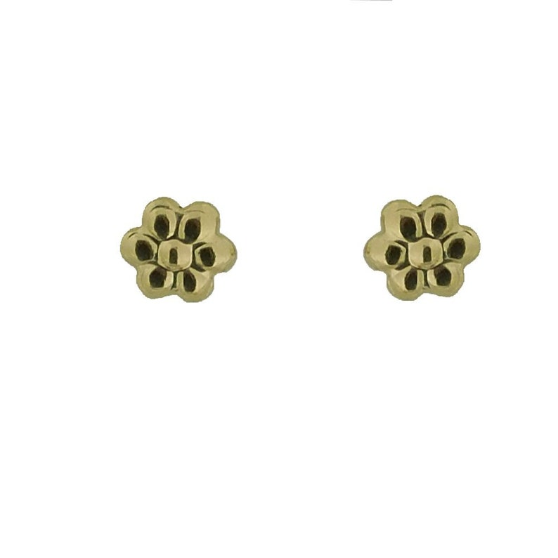 18KT Yellow Gold Polished Flower Post Earrings 5mm