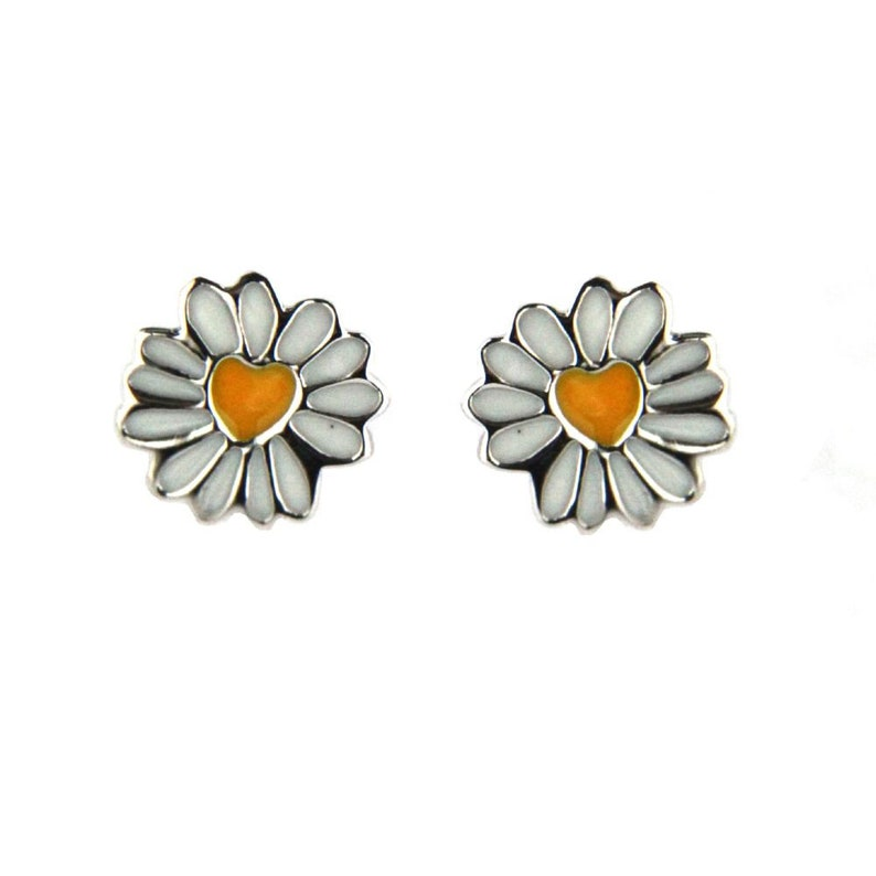 1617fb5a8dde8 Agatha ruiz de la Prada Sterling Silver enamel daisy post earrings