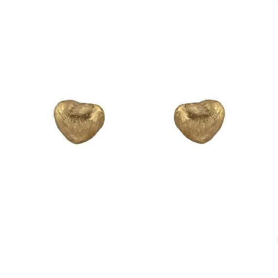 18k Yellow Gold Satin Finish Star Screwback Earrings 0.20 Inch Diameter