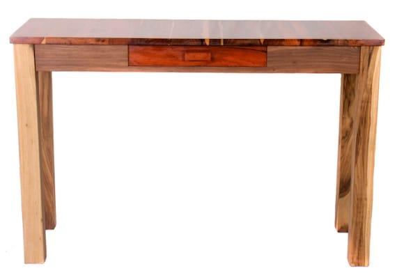 Exotisches Holz Konsole Tisch Mit Schublade Etsy