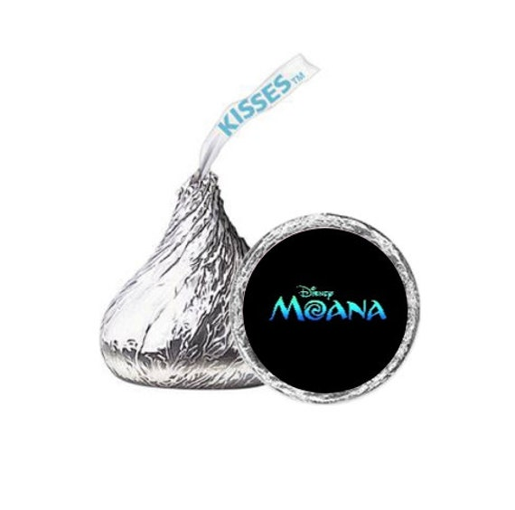 108 Happy Birthday Moana Hershey Kiss Stickers Labels Party Favors Decoration