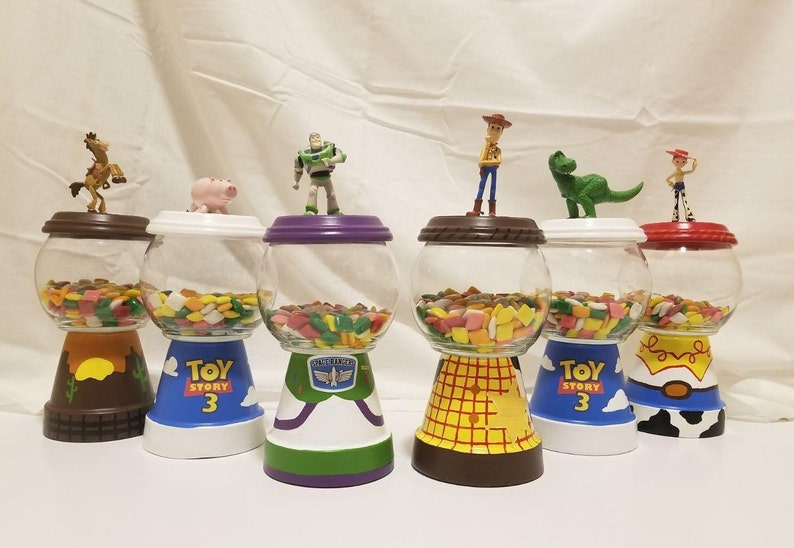 Toy Story Birthday Centerpiece Candy Jar Gumball Party Etsy