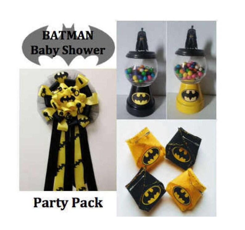 50d5dd805f5a Batman Baby Shower Party Party Pack Batman Corsage