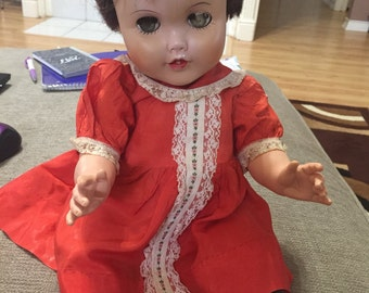 FREE SHIPPING - J-Cey 20 inch Brunette Doll - Original Dress