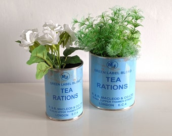 Ration Reproduction WW food tin cans display props collectible re-enactment WWII world war 2 1940's gifts