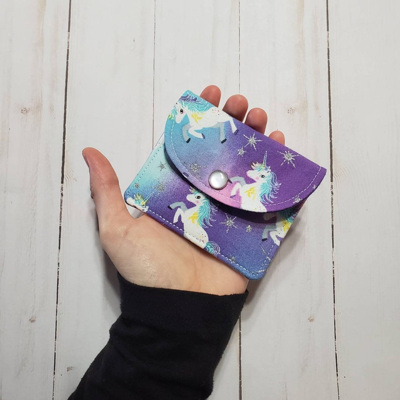 Earbud Pouch chapstick pouch condom pouch Unicorn coin pouch- card wallet cash pouch Pocket Pouch