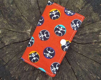 Tea Wallet - 6 pocket - Bubble Pandas