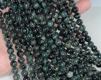 FREE USA Ship 4mm Breccia Jasper Gemstone Brown Round 4mm Loose Beads 15.5 inch Full Strand LOT 1,2,6,12 and 50 90189203-90