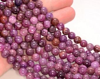 Jade Beads-Mauve 211054192 8mm Round Beads