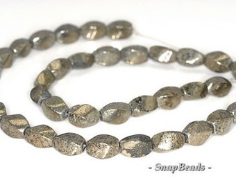 8X4MM IRON PYRITE INTRUSION GEMSTONE BLACK GOLD RONDELLE HEISHI LOOSE BEADS 16/""