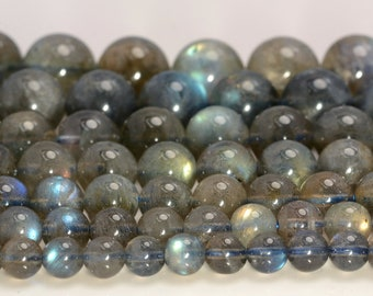 high quality Genuine Labradorite gemstone blue flashy  round loose beads  jewelry gift 16inch 4-12mm