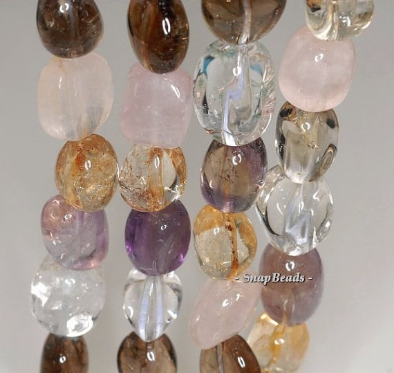 90144098-B33-561 FREE USA Ship 10x5mm Mix Quartz Gemstone Faceted Rondelle Loose Beads 7.5 inch Half Strand LOT 1,2,6 and 12