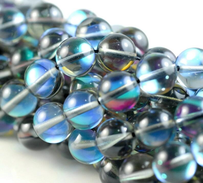6//8mm Mystic Aura Quartz Gemstone Loose Beads 15inch AAA
