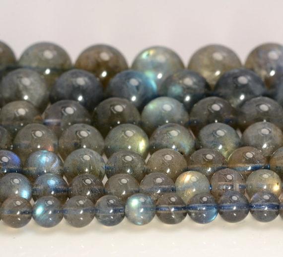 Natural Labradorite Gemstone Round Loose Beads Bracelet 4mm 5mm 6mm 7mm 8mm