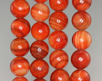 10mm Orange Zebra Jasper Gemstone Round Loose Beads 16 inch Full Strand (90185287-863)
