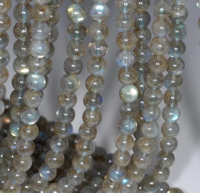 Good Quality A Grade Labradorite Beads 15.5 Strands 5 mm