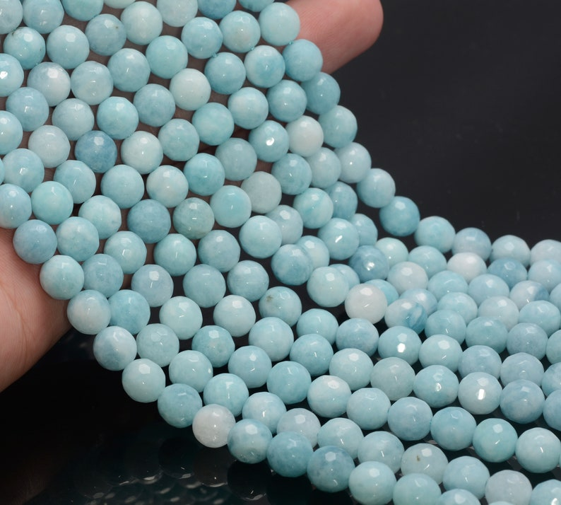 Gem-Inside 4mm Round Blue ite Beads Strand 15 Inches
