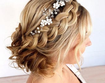 Bridal head wreath  dfde4874bea