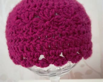 Newborn hat girl,  crochet baby hat, baby hat, baby girl hat, photo prop