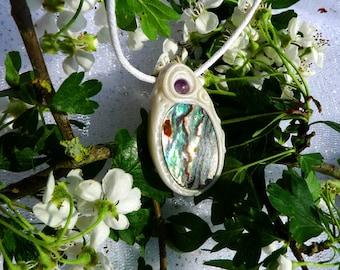 Abalone shimmering, iridescent, Crystal healing, reiki, meditation, protection Talisman