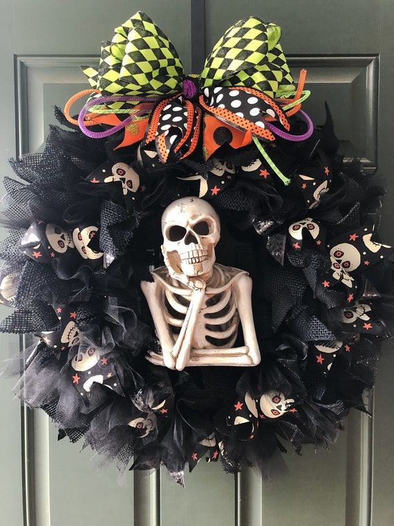 Skeleton #Halloween wreath