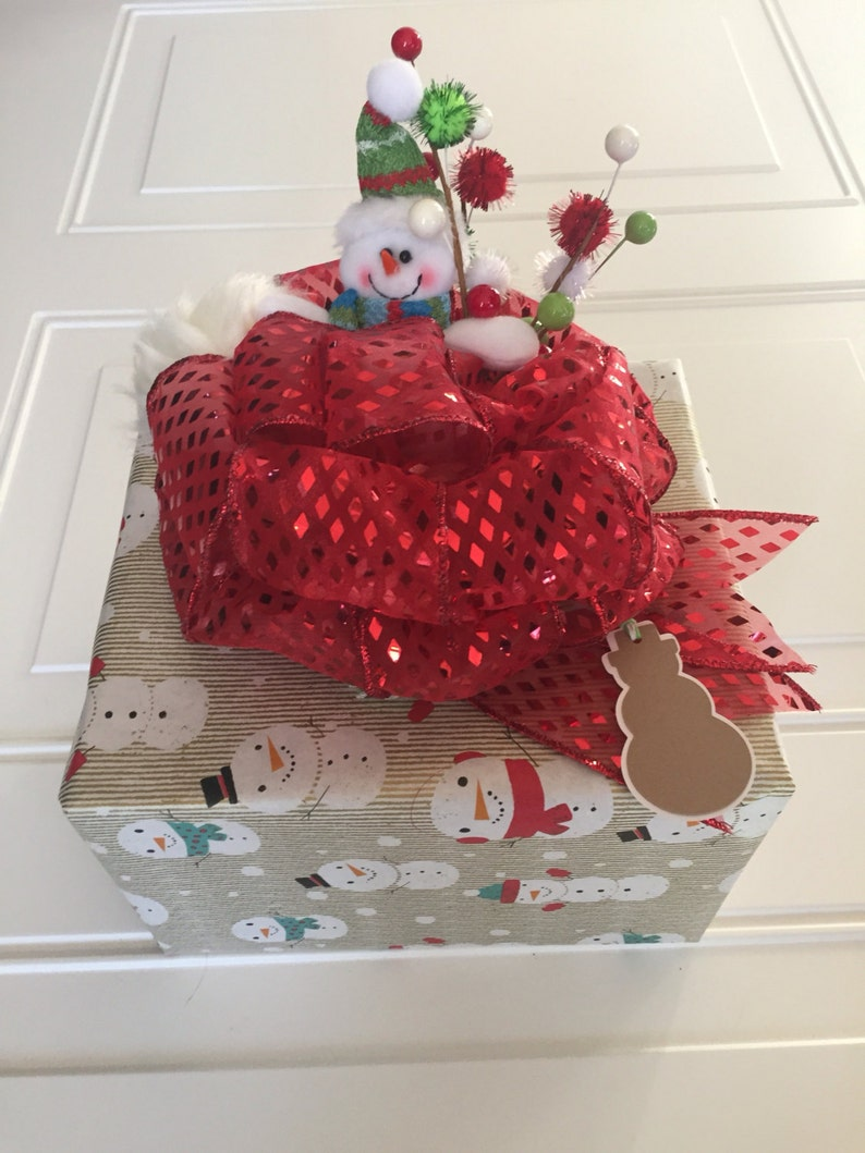 Christmas In July Gift Basket Ideas.Christmas Gift Bow Snowman Gift Basket Bow Bows For Baskets And Gift Bags Christmas Present Ribbon Gift Tag Holiday Gift Wrap Holiday Gift