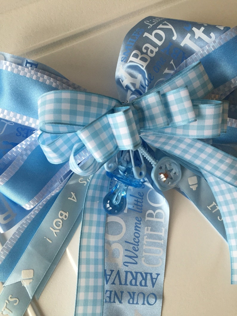 Its A Boy Bow Basket Bow Decoration Chair Bow Baby Shower Etsy