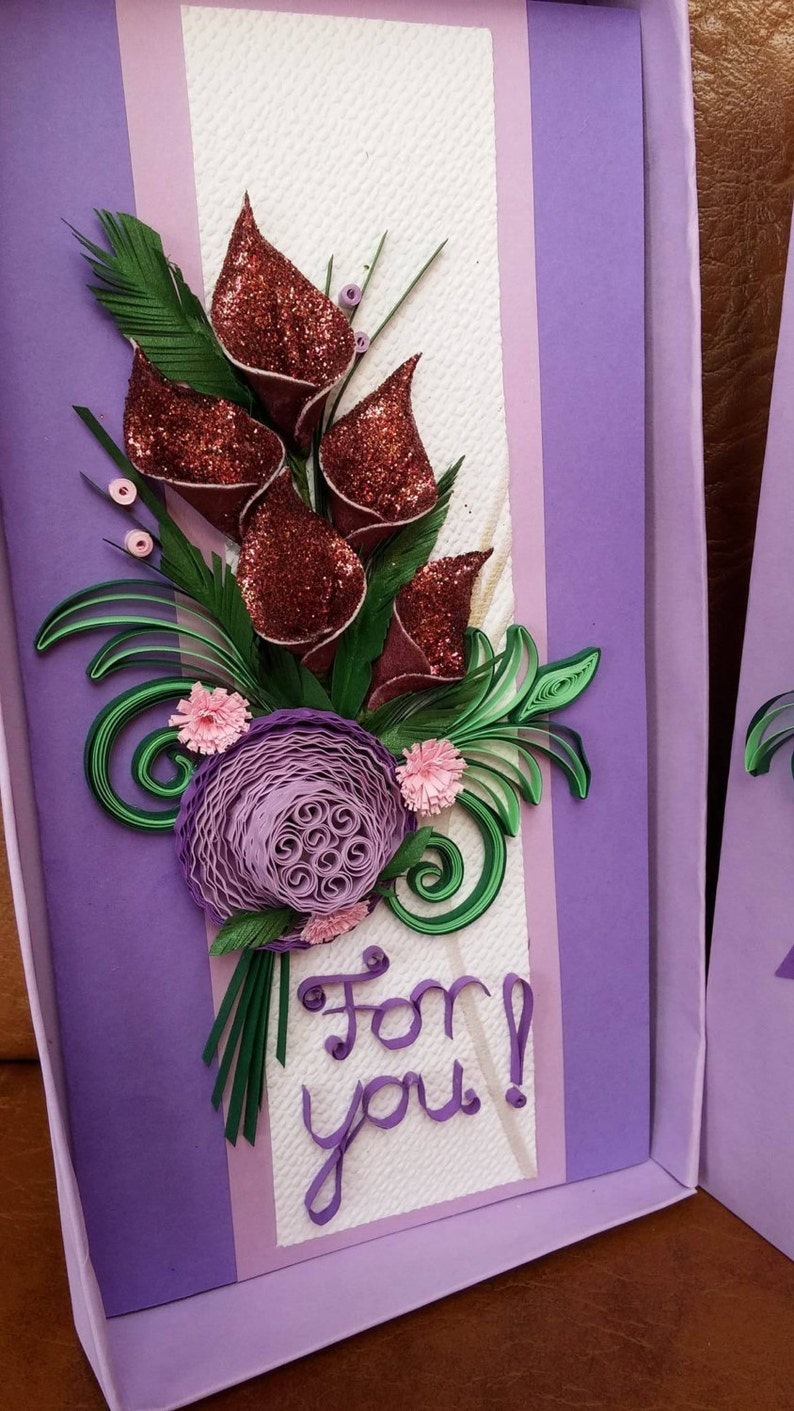 Quilling card with box