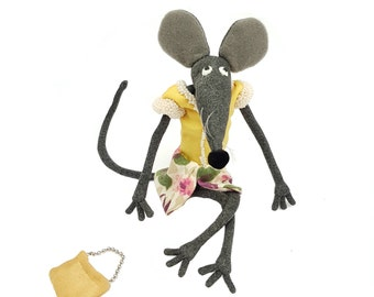Art Mouse Soft Sculpture by Eglesmade