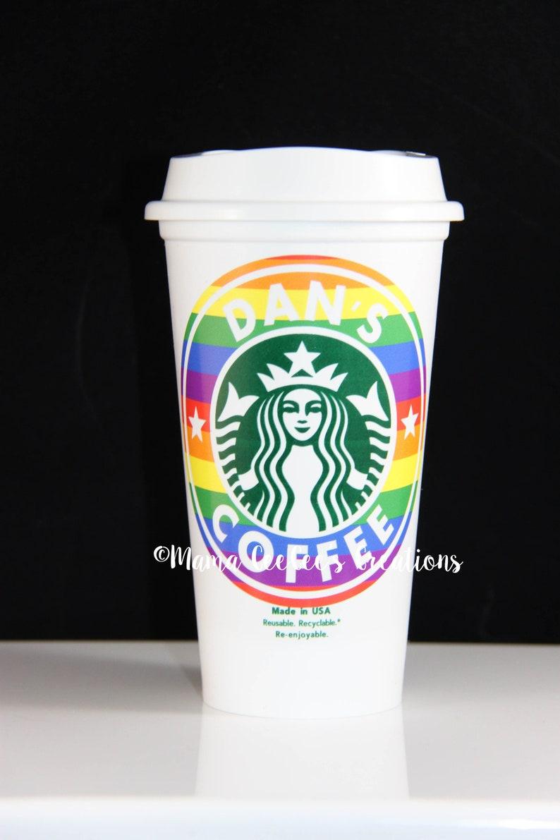 Rainbow Pride Lgbt Mesure Mug Sur Et Tumbler Personnalisé Café Starbucks Boisson Tasse jSzVULMpqG