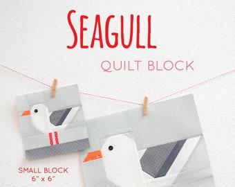 PDF Nautical Quilt Pattern - Seagull quilt pattern - Bird quilt pattern