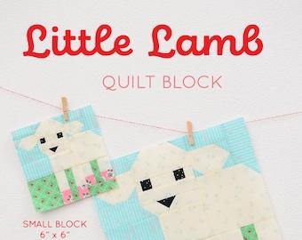 6cc77cdb1 PDF Easter Quilt Pattern - Lamb Quilt Block Pattern
