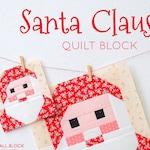 PDF Christmas Quilt Pattern - Santa Claus quilt pattern