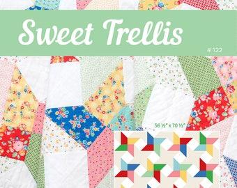 PDF Quilt Pattern - Sweet Trellis