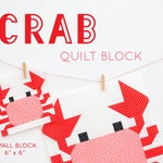 PDF Nautical Quilt Pattern - Crab Quilt Block Pattern