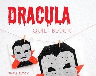PDF Halloween Quilt Pattern - Dracula quilt pattern