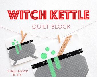 PDF Halloween Quilt Pattern - Witch Kettle quilt pattern