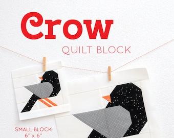 PDF Halloween Quilt Pattern - Crow quilt pattern