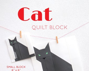 PDF Halloween Quilt Pattern - Cat quilt pattern