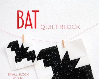 PDF Halloween Quilt Pattern - Bat quilt pattern