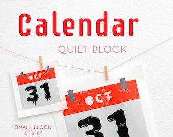 PDF Halloween Quilt Pattern - Calendar quilt pattern